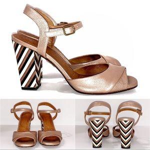 Anthropologie Chie Mihara Block Sandal Size 7.5